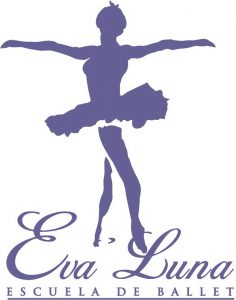 logotipo de la escuela de danza eva luna
